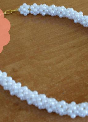 DIY: perłowy naszyjnik