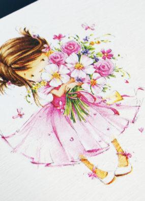 Decoupage: skrzynia na pamiątki dla dziewczynki