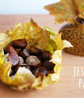 Jesienna DIY: patera z liści