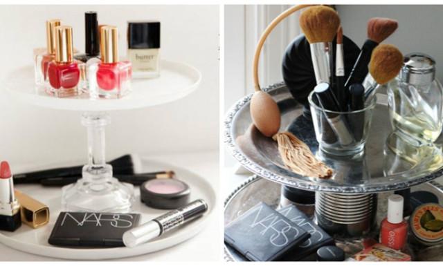 15 DIY pomysłów na zorganizowanie i uporządkowanie kosmetyków