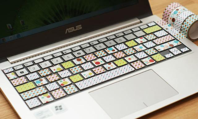 Pomysł na wykorzystanie taśmy washi tape i mała metamorfoza mojego laptopa