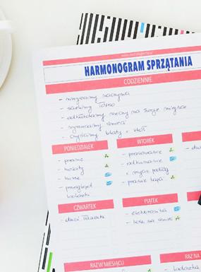 Harmonogram sprzątania – nowa ulepszona wersja