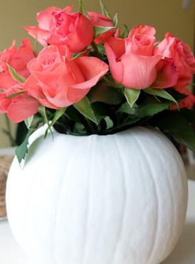 Dynia po raz pierwszy: jesienny wazon z dyni
