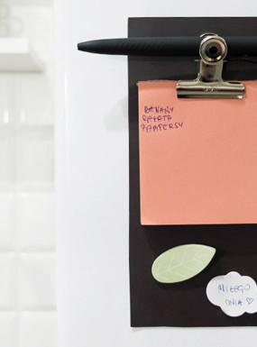 DIY magnetyczny notatnik na lodówkę