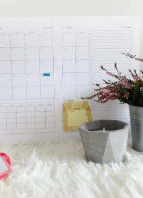 Rodzinny kalendarz na listopad 2016 do wydrukowania