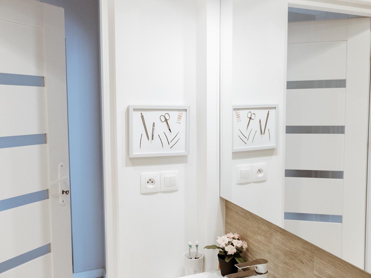 organizer do łazienki DIY